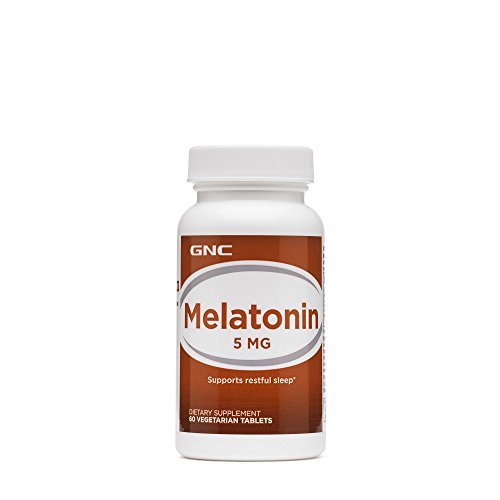 GNC Melatonin 5mg, 60 Tablets, Supports Restful Sleep