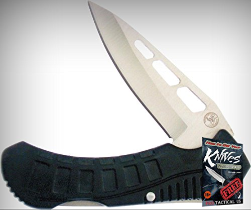 Frost Cutlery FWT176B Gentle Tac Folding Limited Elite Knife Black Handle Folder + free eBook by (Tac Folder)