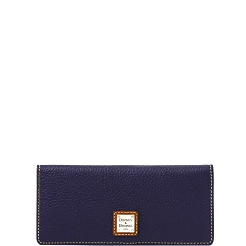 Dooney & Bourke Pebble Leather Slim Snap C. Card Wallet Clutch ZR035 MD (Dooney & Bourke Slim Wallet)