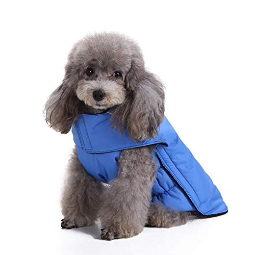 Scheppend Dog Jackets for Winter Windproof Waterproof Cozy Dog Coat for Cold Weather Warm Apparel Clothes Puppy Dog Vest for Small Medium Large Dogs (Small, Blue)