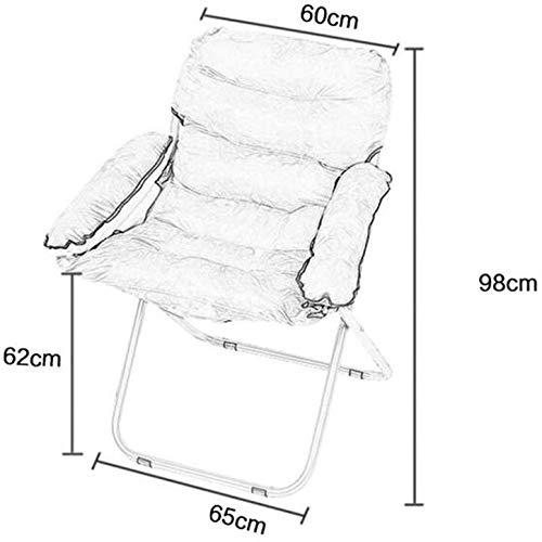 DBL Enkel mjuk bekväm tyg bomull fåtölj bärbar vikbar lounge modernt utseende konferensstol skrivbordsstolar (färg: 3) 3