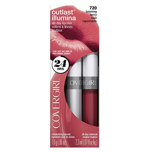 COVERGIRL Outlast Illumia All-Day Moisturizing Lip Color, Beaming Berry .13 oz (4.2 g) by COVERGIRL Berry Moisturizing