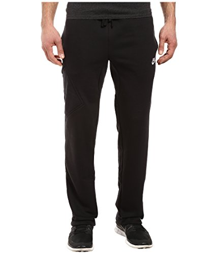 NIKE Men's Club Fleece Cargo Pant, Black/White, - Fleece Pant Mens Nike