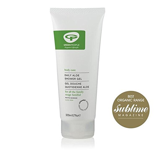 Green People Daily Aloe Vera Shower Gel 200ml (Pack of 6) - 緑の人々の毎日のアロエシャワージェル200 x6 [並行輸入品] B072BC2MD2