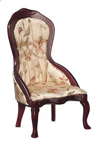 ictorian Lady's Chair, Mahogany with Floral Fabric ()