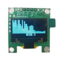 "Mini 0.96"" inch OLED Music Spectrum Display Analyzer MP3 PC Amplifier Audio Level Indicator Music Rhythm Analyzer VU Meter"