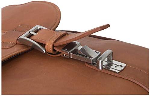 Kenneth Cole Reaction Show Business Full-Grain Colombian Leather Dual Compartment Flapover 15.6-inch Laptop Business Portfolio, Cognac