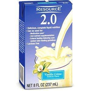 Resource 2.0 Vanilla Crème Brikpak 27 X 8oz Case *2 CASE SPECIAL* by Nestle Nutrition
