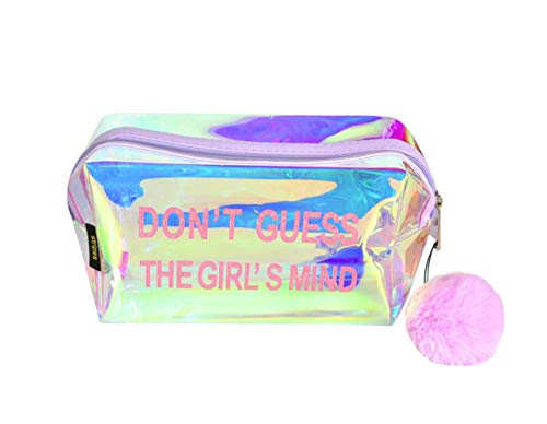 STRIPES Women's Cosmetic Bag with Toiletries Make Up Pouch (Multicolor)