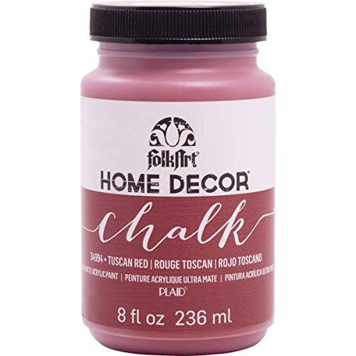 FolkArt 34994 Home Decor Chalk Furniture & Craft Paint in Assorted Colors, 8 ounce, Tuscan Red