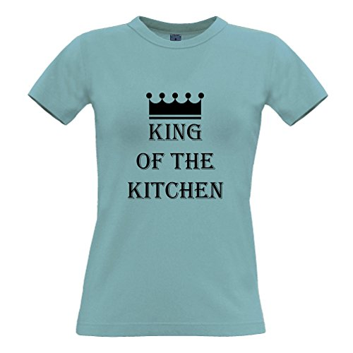 King Of The cucina Camera Cooking Chef Cook divertente Slogan T-Shirt Da Donna