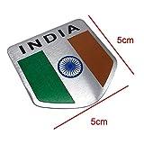 Aluminum INDIA Flag Car Styling Sticker Emblem
