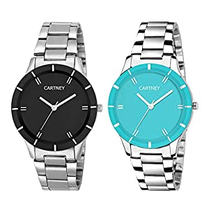 CARTNEY Analogue Black Dial Combo of 2 Women's & Girl's Watch – Cty-BSB-0108