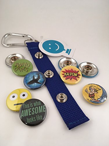 ChattySnaps Gift Pack Awesome Tales Accessory in Blue with 6 Interchangeable Snap Buttons