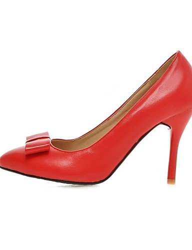 ZQ zapatos de las mujeres de la PU talones tal¨®n grueso / en punta talones de oficina&?carrera / ocasional negro / color de rosa / rojo / , pink-us10.5 / eu42 / uk8.5 / cn43 , pink-us10.5 / eu42 / uk white-us6 / eu36 / uk4 / cn36