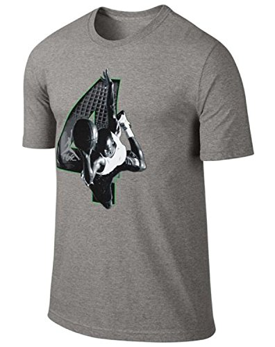 Jordan Mens Nike AJ IV Retro 4 Number T-Shirt Grey/White/Black