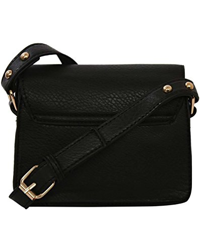 Women's Bag Mini Black Satchel Look Black PILOT in Leather OXwWdvxBq