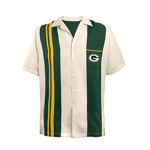 Nfl Game Gear Tee - NFL Green Bay Packers Spare Bowling Shirt, Large