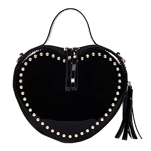 Clutch Cross Bag Bag Prom Felice Mini Evening Party Handbag Shape Body Heart Black q4gwFY