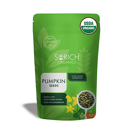 Sorich Organics USDA Certified Organic Raw Pumpkin Seeds - 400 Gm