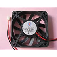 2 pcs Brushless DC Cooling Fan 24V 6010S 11 Blades 2 wire 60x60x10mm Sleeve-bearing Skywalking
