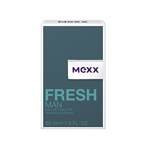 Mexx Fresh Man – Eau de Toilette Natural Spray – Aromatisches Herren Parfüm mit holzigen Noten – 1 er Pack (1 x 50ml)