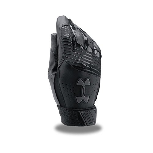 Under Armour Boy's Clean Up Baseball Batting Gloves, Black (002)/Graphite, Youth Small (Best Baseball Batting Gloves)