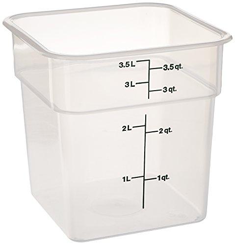 Cambro Bay (Cambro 4SFSPP190 CamSquare Storage Container, Translucent, 4 qt.)