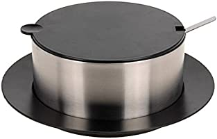 2.4L Stainless Steel Soup Serving Dish Insulated Double Wall Casserole Dish Lid
