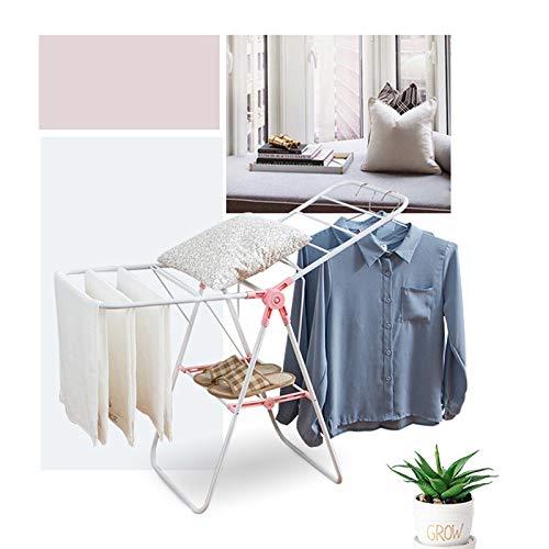 家の実用的なバルコニーの床折りたたみ小さな乾燥ラック、寝室の浴室乾燥ラック、小さなサイズはスペースを取りません、折りたたみ、操作が簡単 Nosterappou B07RJQT8DJ