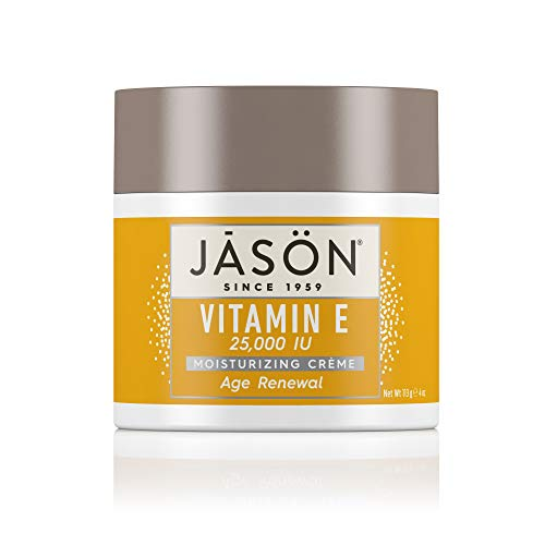 JASON Age Renewal Vitamin E 25,000 IU Moisturizing Crème, 4 Ounce Container (Best Makeup For Wrinkled Skin)