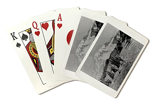 (Hikers at Paradise on Mount Rainier Photograph (Playing Card Deck - 52 Card Poker Size with Jokers))
