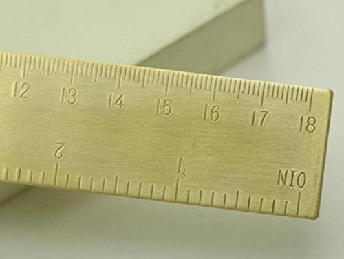 dersoning 18/cm Mini Brass Dual Scale Ruler Measuring Tool
