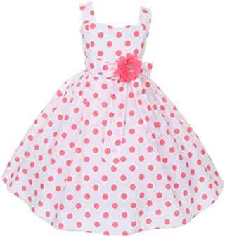 98b012f6c Cinderella Couture Big Girls Coral Polka Dots Easter Flower Girl Dress 8-14