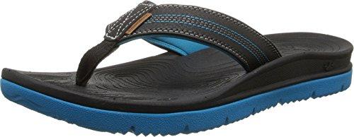 Freewaters Men's Tall Boy Flip Flop Sandal, Black/Blue, 13 M US