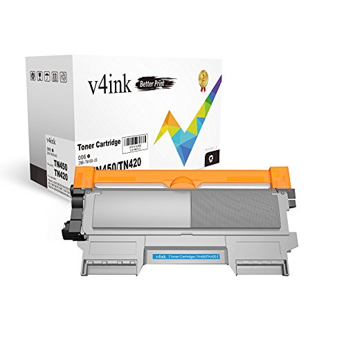 V4INK 1-Pack New Compatible Brother TN420 TN450 Toner Cartridge for Brother HL-2240 HL-2240D HL-2270DW HL-2280DW MFC-7360N MFC-7860DW Brother IntelliFax-2840 2940 DCP-7060D DCP-7065DN Printer - Black