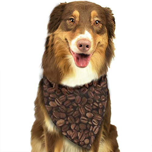 FRTSFLEE Dog Bandana Coffee Beans Scarves Accessories Decoration for Pet Cats and Puppies ()