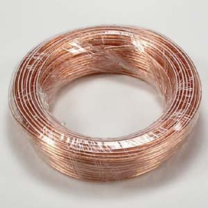 InstallerParts 18AWG 2-Conductor Polarized Copper Speaker Wire (Clear, 50 Feet)