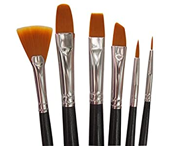 Art Paintbrush Set for Oil, Acrylic, Watercolor, Gouache Painting. Best Art Tools for Professional, Beginners and Students. Quality Paintbrushes made of nylon hair, seamless aluminum ferrule and long wooden handle. Comprehensive Paint Brushes Set: Fan, An
