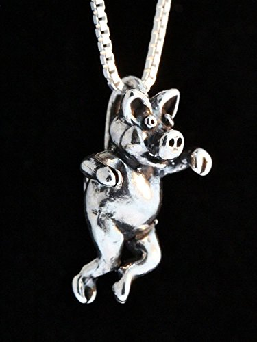 Three Little Pigs Silver Left Jig Pig Charm Pendant ()