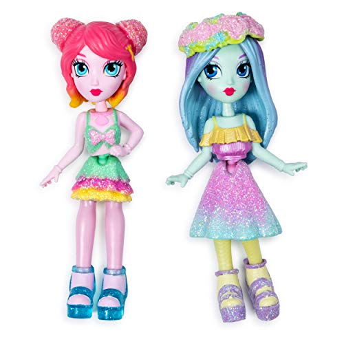 Off the Hook Style BFFs, Brooklyn & Alexis (Spring Dance), 4-inch Small Dolls with Mix and Match Fashions and Accessories, for Girls Aged 5 and Up