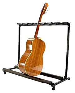 zenison 7 guitar stand multiple seven instrument display rack folding padded. Black Bedroom Furniture Sets. Home Design Ideas