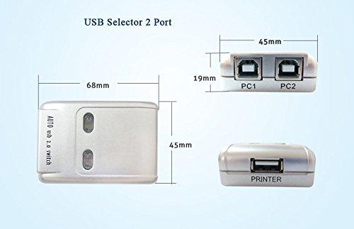 SANOXY USB 2.0 bo/îtier de Commutation AB Scanner Argent 2 pc /à 1 p/ériph/érique USB 2.0 pour imprimante
