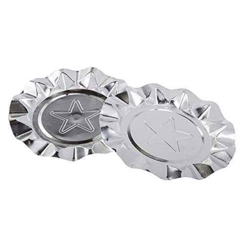 Royal Silver Star Aluminum Ashtrays, Package of ()