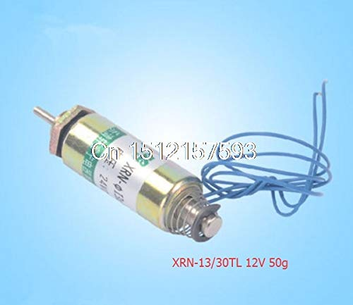 Black XRN13 30TL 24V 12V 50g XRN19 42TL 24V 12V 100g Force 6mm Tubular Push Type Electric Solenoid Electromagnet  (color  Beige)