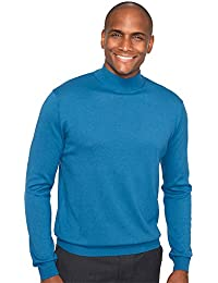 "<span class=""a-offscreen"">[Sponsored]</span>Men's Silk, Cotton \ Cashmere Mock Sweater"