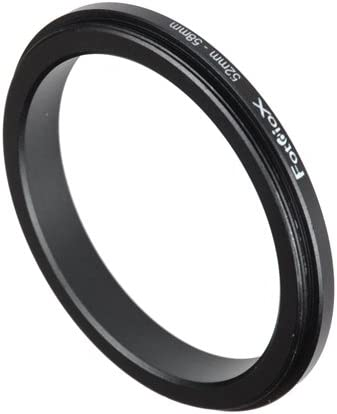 Fotodiox 52-58mm Macro Close-up Reverse Ring for Nikon, Canon, Sony, Olympus, Pentax, Panasonic and Samsung Camera