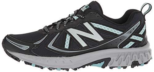 outlet store 21f93 3e367 New Balance Women's 410v5 Cushioning Trail Running Shoe,  Black/Thunder/Ocean air, 7 D US