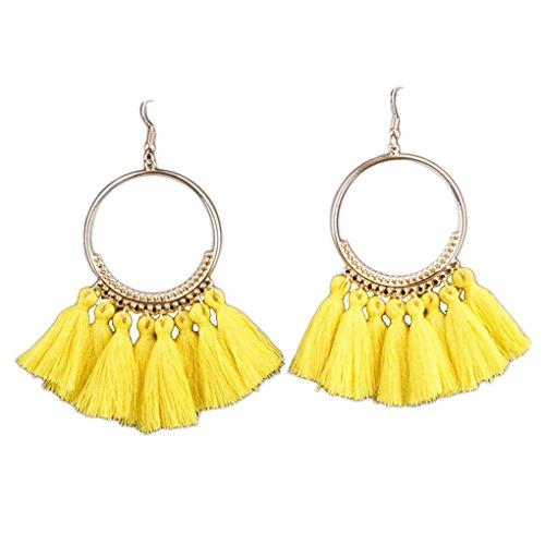 Xuanhemen 1 Pair Women Ethnic Bohemia Drop Dangle Long Rope Fringe Earings Girl Tassel Earrings Lady Fashion Bohe Jewelry
