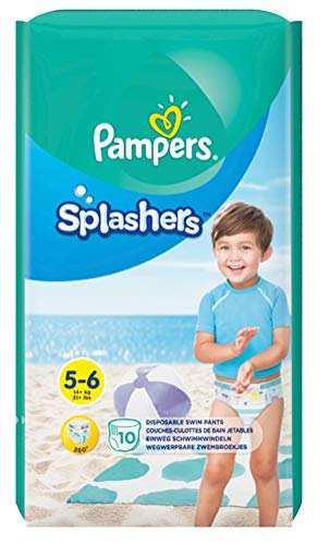 Pampers Splashers Swim Diapers Disposable Swim Pants, Large (> 31 lb), 10 Count (Pampers Large Size Pants)